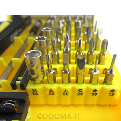 45 in 1 Precision Torx Screw Driver Set Repair Tweezers Phone Laptop Tools Kit