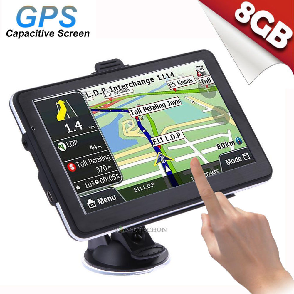 7''Truck Car Navigation GPS Navigator SAT 8GB North/South America Europe Map Lot